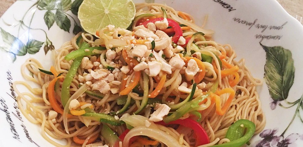 Pad Thai vegano sencillo