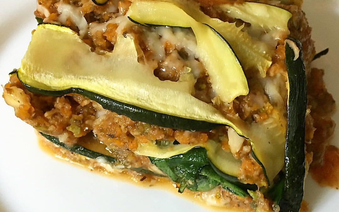 Lasaña vegana y sin gluten
