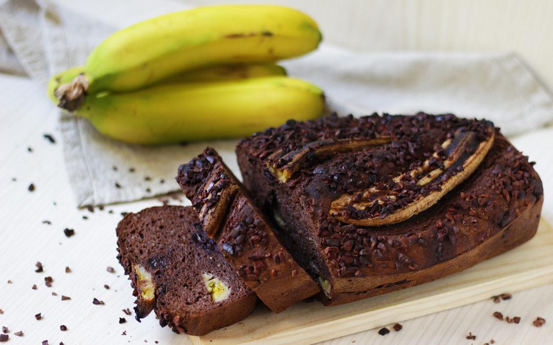 Choco-Banana Bread sin gluten