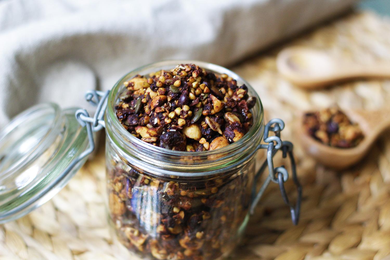 Granola crujiente de trigo sarraceno