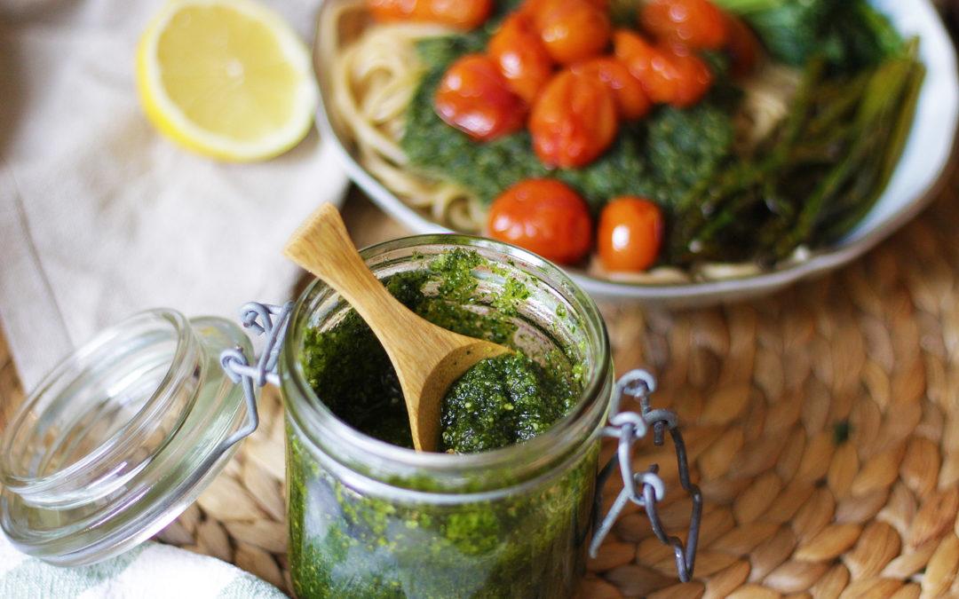 Pesto de kale y avellanas