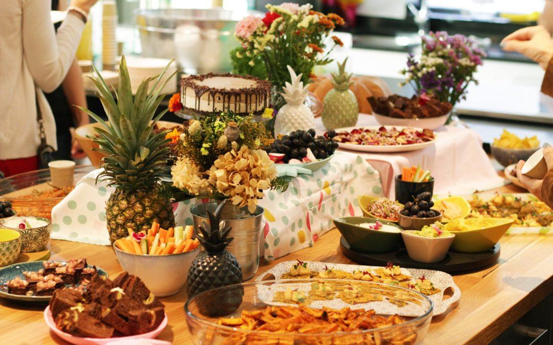 Menú saludable para fiestas y cumpleaños