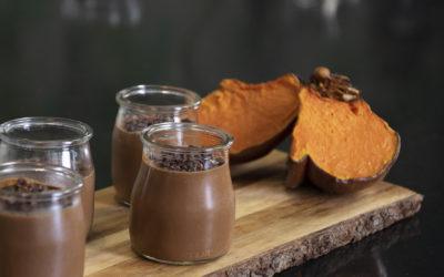 Mousse de chocolate y calabaza sin azúcar