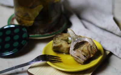 Alcachofas confitadas, mi conserva favorita